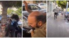 """بالفيديو/  مرافق زوجة النائب فؤاد مخزومي يعتدي على محتجين قرب مصرف لبنان بسبب تأخرها في """"زحمة السير"""" بحسب ما أفادت الجديد"""