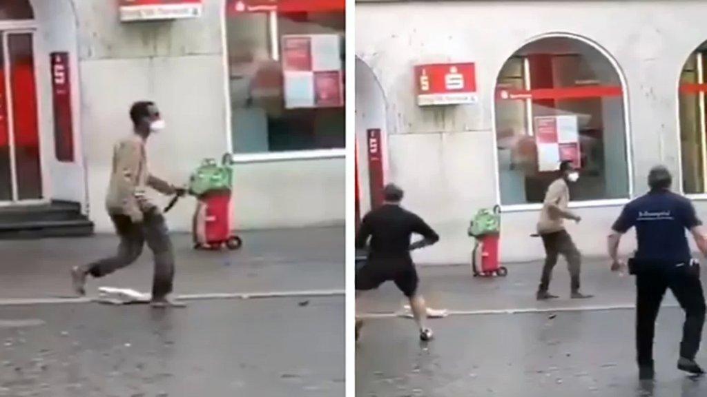 قتل 3 وأصاب 6.. فيديو يظهر منفذ عملية الطعن الذي هاجم المارة في ألمانيا