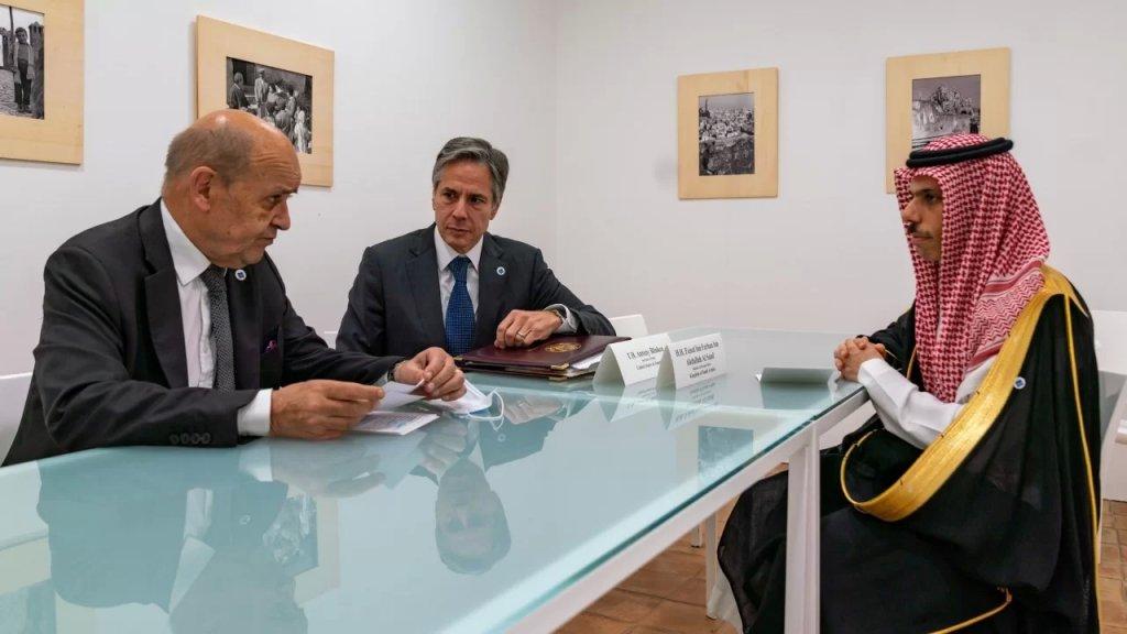 بالصورة/ إجتماع أميركي- فرنسي- سعودي لمناقشة الملف اللبناني