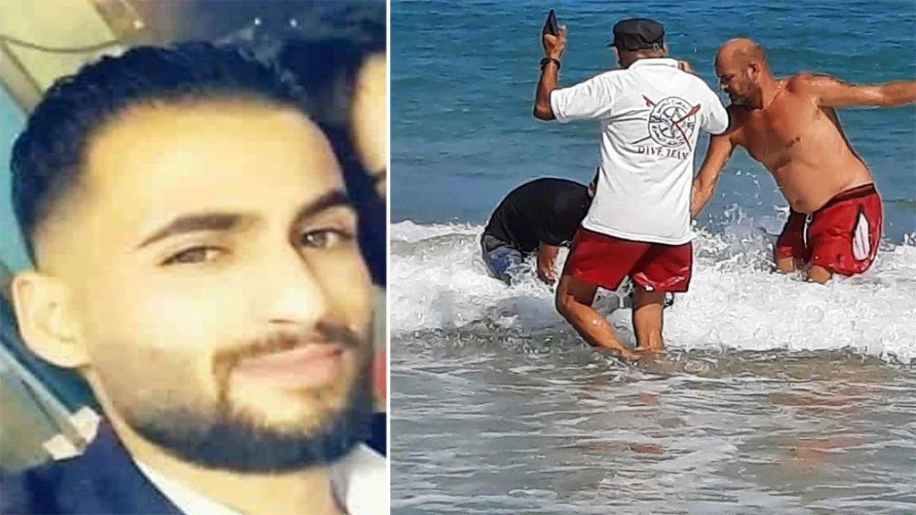 بعد فقدانه أمس العثور على جثة الشاب منصور بعدما قضى غرقًا في البحر قبالة الغازية
