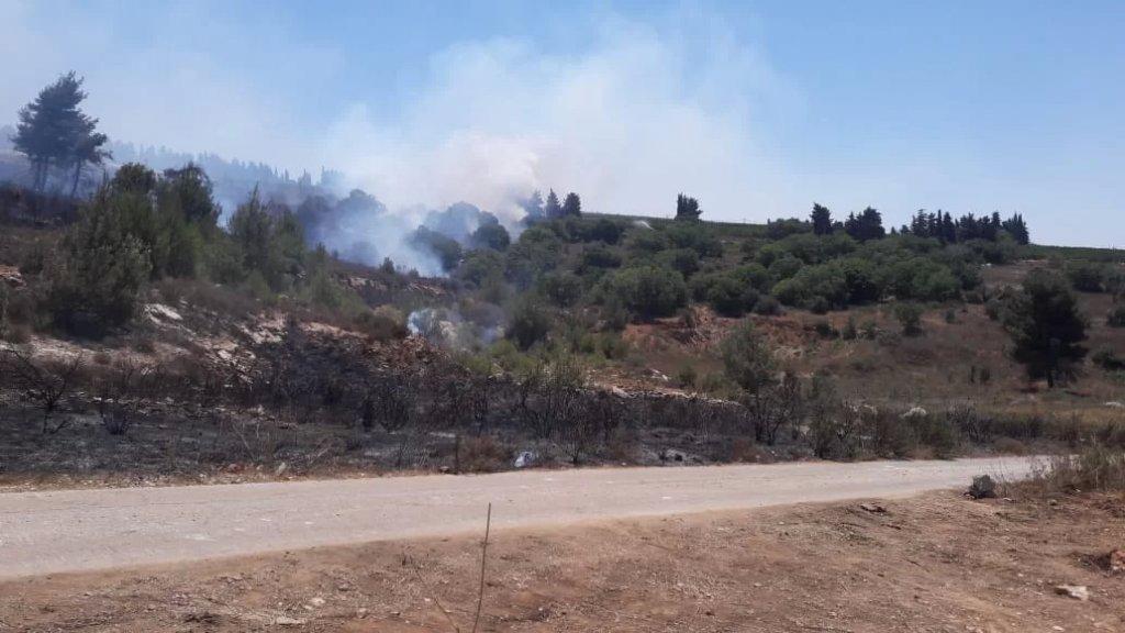 حريق في خراج ميس الجبل يفجر 8 ألغام من مخلفات الاحتلال الإسرائيلي