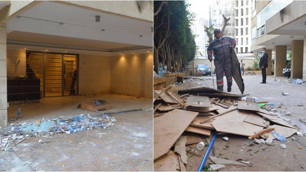 بالصور/ المشهد من أمام منزل وزير الداخلية محمد فهمي بعد أحداث أمس