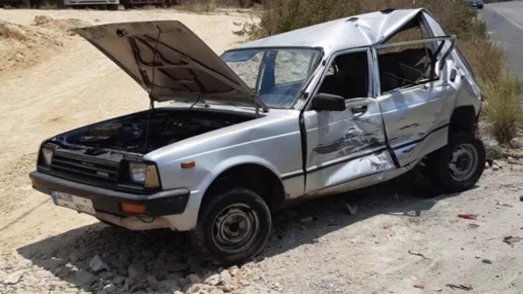 3 جرحى نتيجة حادث سير على طريق مصيلح - النبطية بين ثلاث سيارات بسبب طوابير السيارات امام محطة للمحروقات