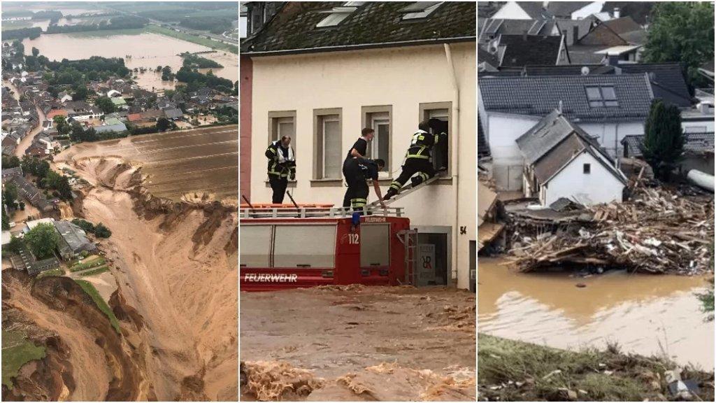 بالفيديو/ مشاهد مرعبة للفياضانات في ألمانيا.. عشرات القتلى وأكثر من ألف مفقود
