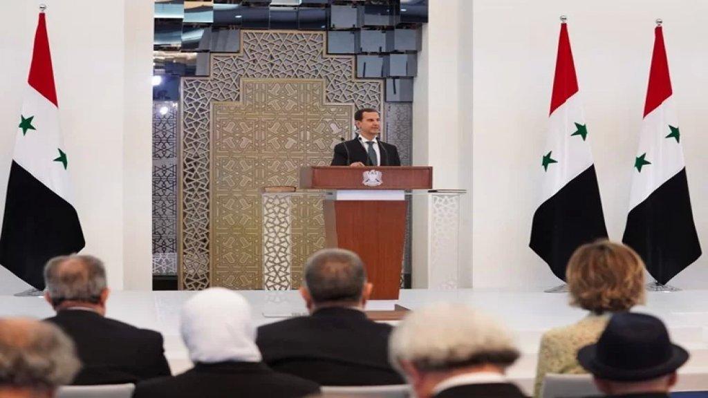 """الرئيس السوري بشار الأسد يؤدّي اليمين الدستورية: """"العائق الأكبر أمام الإستثمار حالياً هو الأموال السورية المجمدة في البنوك اللبنانية والتي تقدر قيمتها بعشرات المليارات من الدولارات"""""""