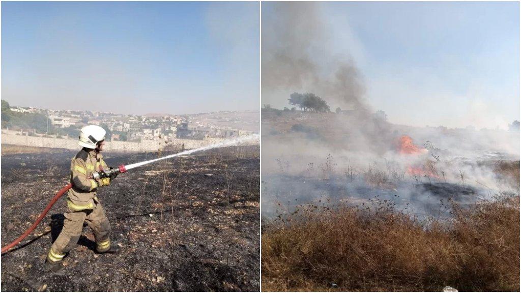 حرائق بعضها تسبب بانفجار ألغام في بنت جبيل - صف الهوا وعيترون ويارون