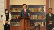 """بالصور والفيديو/ """"السلام عليكم"""".. ترودو يلقي خطابًا اثر صلاة العيد في أحد مساجد كندا ويندد بـ""""الإسلاموفوبيا"""""""