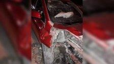 وفاة سيدة بعد ارتطام سيارتها ببوابة حديدية تابعة لشركة كهرباء الحريشه في منطقة قلحات