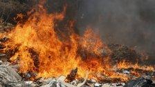 بالصور/ حريق عند مدخل مرفأ بيروت... والدفاع المدني يتدخّل