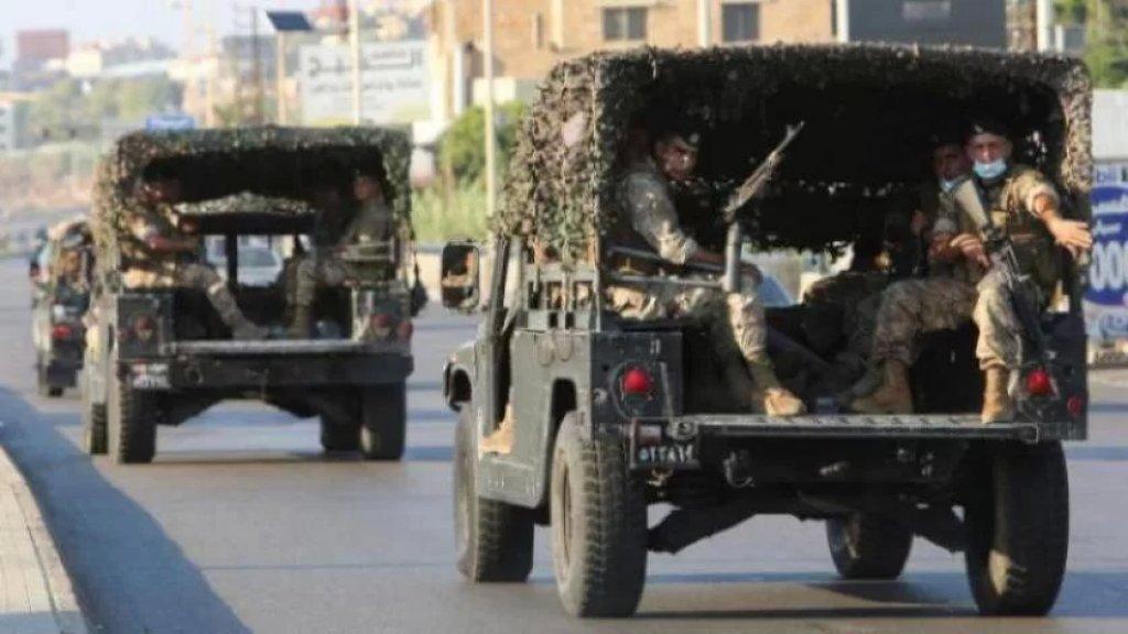 الجيش: ضبط 11038 ليتراً من مادة البنزين وكمية من الأدوية والدخان المُعدة للتهريب إلى الأراضي السورية
