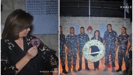 """بالصور/ الممثلة المصرية الهام شاهين تزور مركز فوج إطفاء بيروت: """"سيظل لبنان عروس الوطن العربي الجميلة رغم كل الظروف الصعبة"""""""
