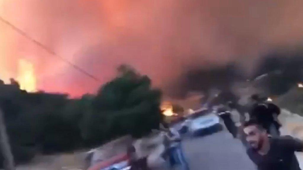 بالفيديو/ أهالي قرية الرويمة البقاعية يناشدون عبر موقع بنت جبيل: النيران امتدت الى محيط المنازل