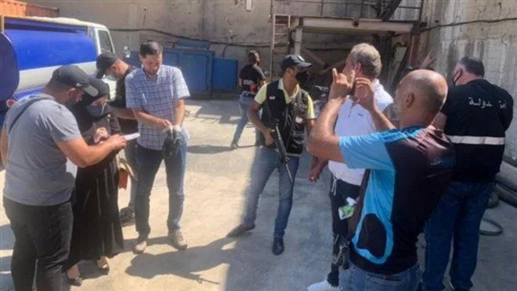 بالصور/ مداهمة خزانات وصهاريج إحدى محطات المحروقات التي كانت تخزن المازوت في البحصاص