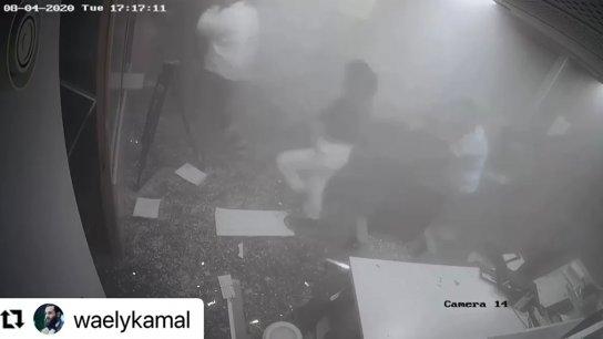 صحافي ينشر لقطات وثقتها كاميرات المراقبة من وجع لحظة انفجار الرابع من آب