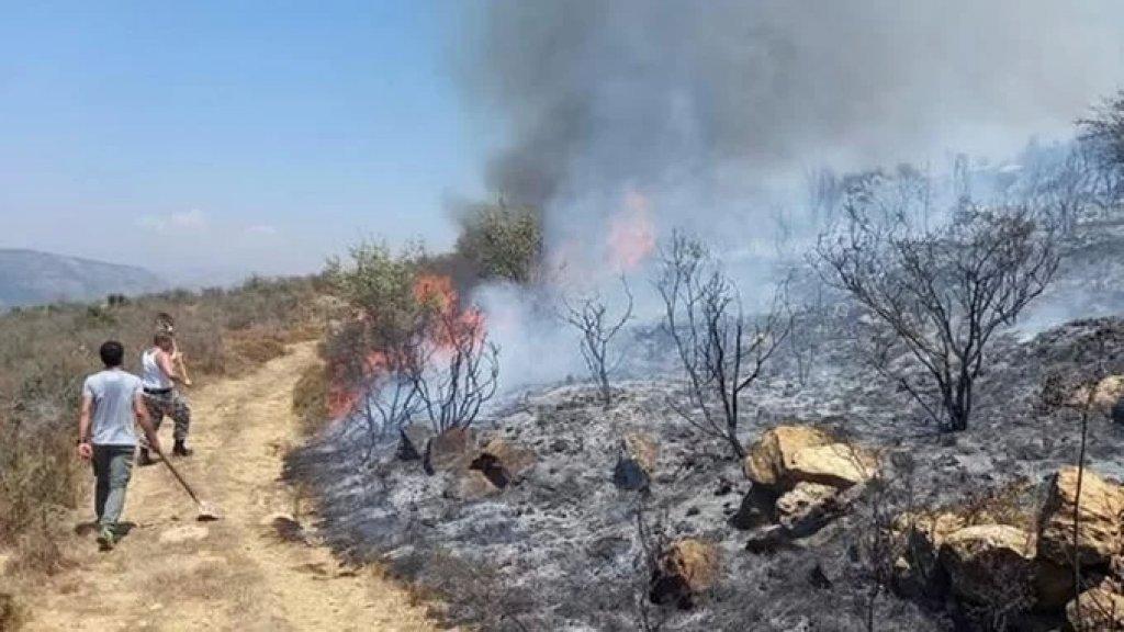 حريق كبير في تلة الصليب في دير القمر ونداء عاجل للجيش للتدخل من خلال طوافاته ومؤازرة الدفاع المدني لإخماد الحريق