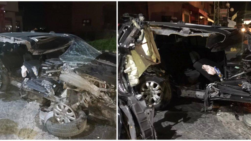 حادث سير مروع وقع فجراً على طريق عام قانا الخشنة... أوقع أكثر من 10 إصابات!