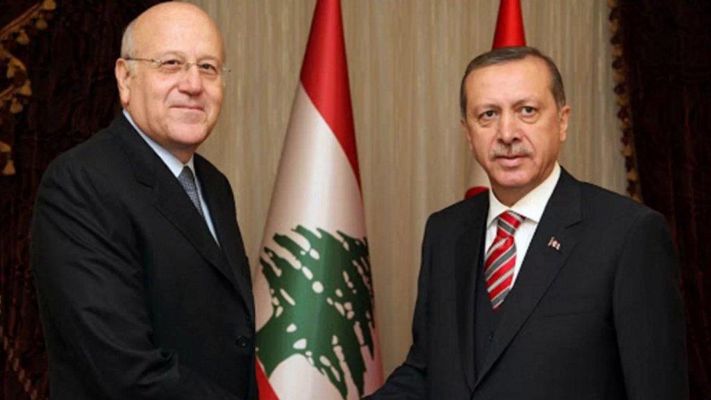أردوغان اتصل بميقاتي مهنئاً: نضع إمكاناتنا في مجال مكافحة الحرائق في تصرف لبنان