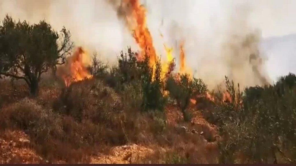 الدفاع المدني اللبناني مركز راشيا الفخار توجه لإطفاء الحريق الذي اندلع بسبب القصف المتواصل من قبل الاحتلال الاسرائيلي بين منطقتي راشيا الفخار والماري في قضاء حاصبيا، ولا تزال النيران تشتد حتى الان