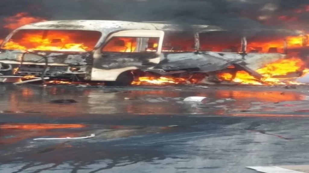 معلومات عن ضحايا في استهداف حافلة تابعة للجيش السوري عند مدخل مساكن الحرس غرب دمشق
