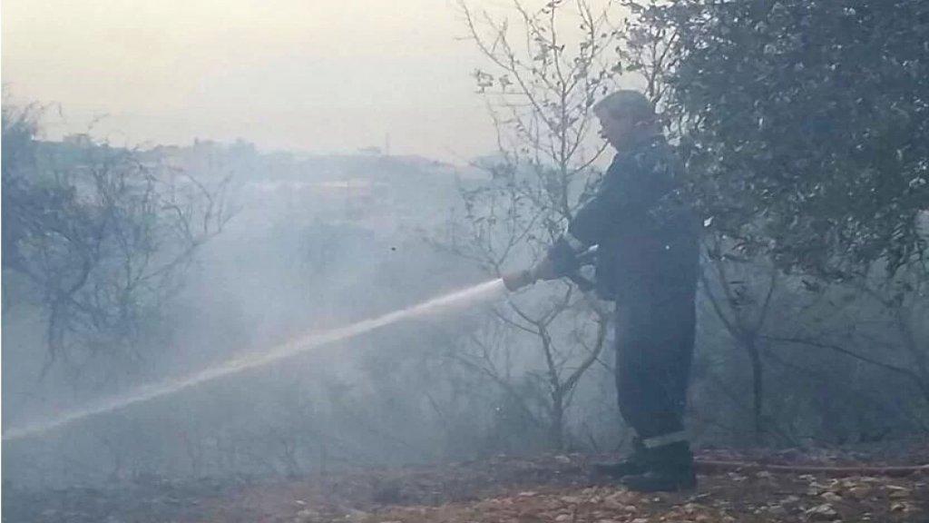 اندلاع حريق بين الهبارية وشبعا بسبب القصف الاسرائيلي