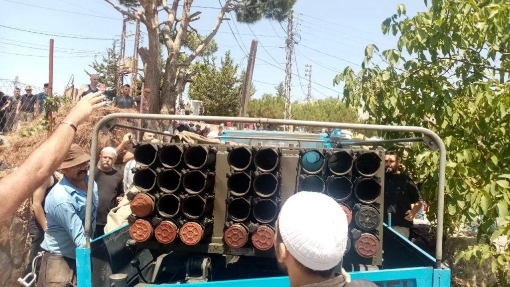 فيديو  متداول / اشكال كبير في شويا حاصبيا اثر توقيف راجمة صواريخ كانت تستعد لاطلاق صواريخ