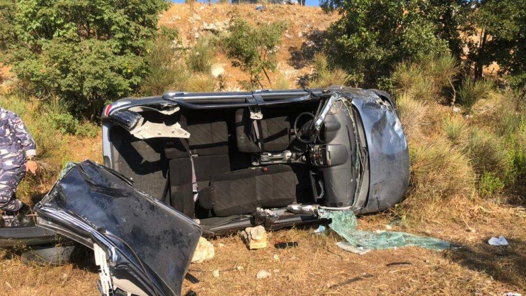 بالصور/ سقوط قتيل بحادث سير مروع في فيطرون