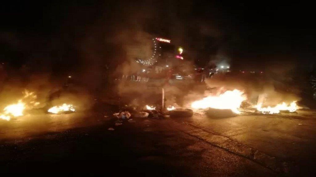 محتجون قطعوا طريق شحيم احتجاجا على فقدان المازوت والبنزين
