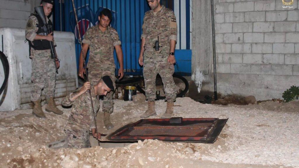 الجيش يصادر ٢١ الف ليتر مازوت مخبأة في خزانات تحت الارض في صيدا طريق السكة