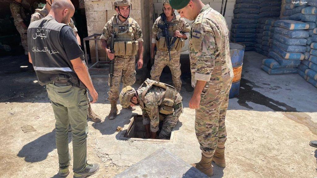 الجيش: مصادرة ٢٤ الف ليتر من مادة المازوت من خزانين تحت الارض في بلدة العديسة تمّ الزام اصحابها ببيعها لبلديات المنطقة بحسب التسعيرة الرسمية