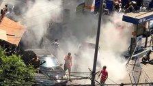 بالصور/ في الميناء... رمي سيجارة من قبل أحد المواطنين تسبّب في حريق في محطة وقود