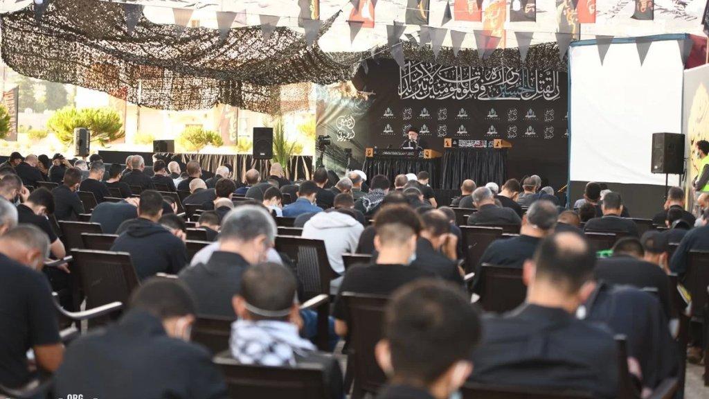 بالصور/ مدينة بنت جبيل أحيت ذكرى عاشوراء بمجلس حاشد في مجمع أهل البيت (ع)