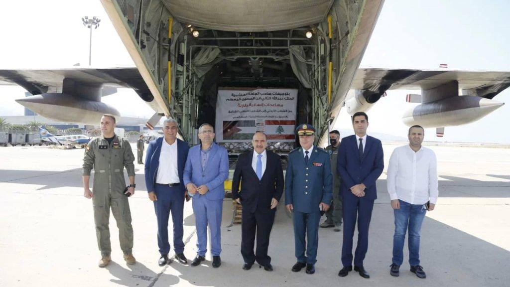 طائرة مساعدات طبية أردنية حطت ظهر اليوم في مبنى القاعدة الجوية في مطار رفيق الحريري الدولي