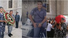 بالصور/ قوى الأمن شيّعت الرقيب رامي إسبر الذي اسـتشـ.هد أثناء تنفيذه مهمّة تنظيم سير أمام محطّة للمحروقات
