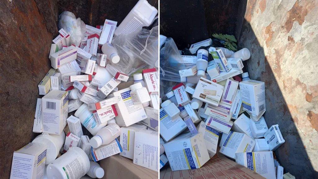 بالصور/ العثور على أدوية مختومة مرمية بمستوعبات النفايات في صيدا!