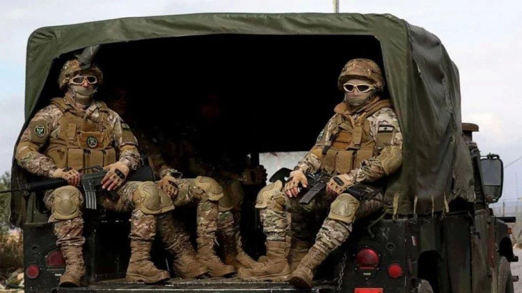 الجيش: ضبط هنغار في زحلة يحتوي خزاناً مموهاً بداخله 54 ألف ليتر من المازوت وصهريج غاز سعة 12 طناً