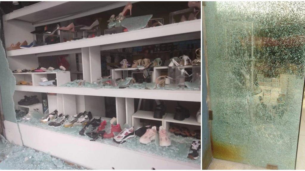 """بالصور/ في حي السلم.. عشرات المحلات التجارية تتعرض يومياً للرصاص نتيجة الاشتباكات والدولة والاحزاب """"مش عالسمع""""!"""