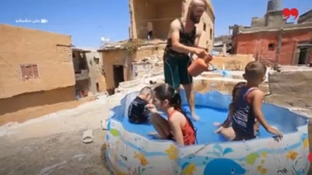 بالفيديو/ أولاد صيدا وجدوا فسحة للتسلية خلال الأزمة والطقس الحار على سطوح المباني!