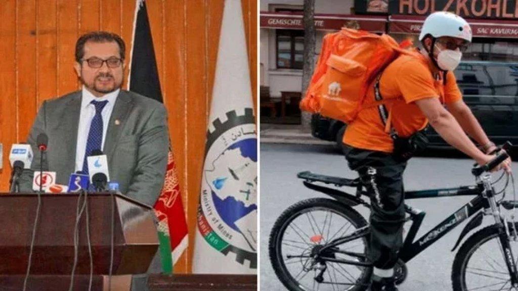 """بالفيديو/ وزير الإتصالات الأفغاني السابق يتحول إلى """"ديليفري"""" بيتزا في ألمانيا بعدما فر من البلاد!"""