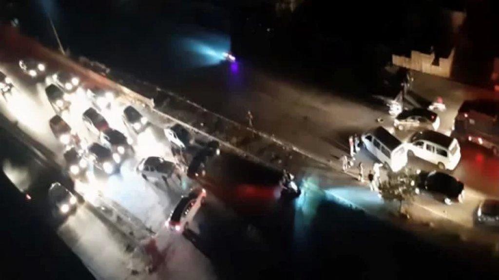 قطع الطريق على اوتوستراد الملوله احتجاجا على عدم تأمين المازوت لأصحاب المولدات