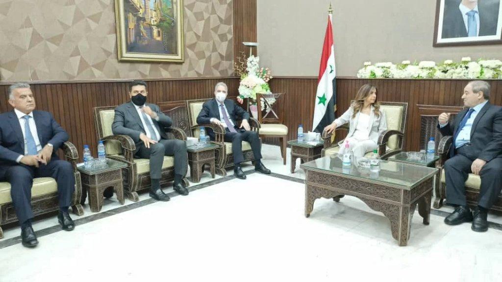 الوفد الوزاري اللبناني يبحث في موضوع استجرار الغاز المصري عبر سوريا