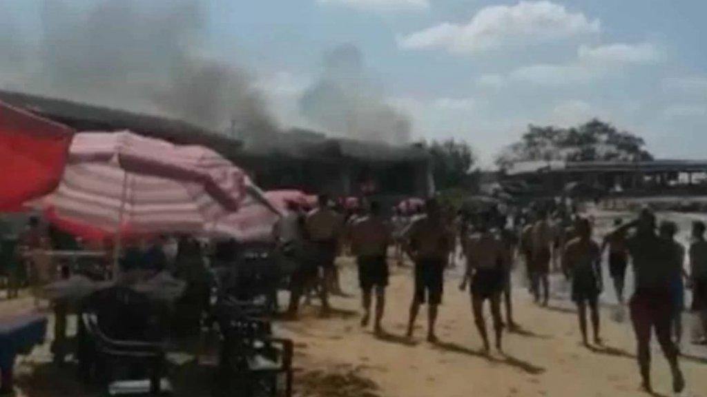 بالصور/ انفجار قارورة غاز في استراحة على شاطئ الغازية الشعبي يوقع 7 جرحى