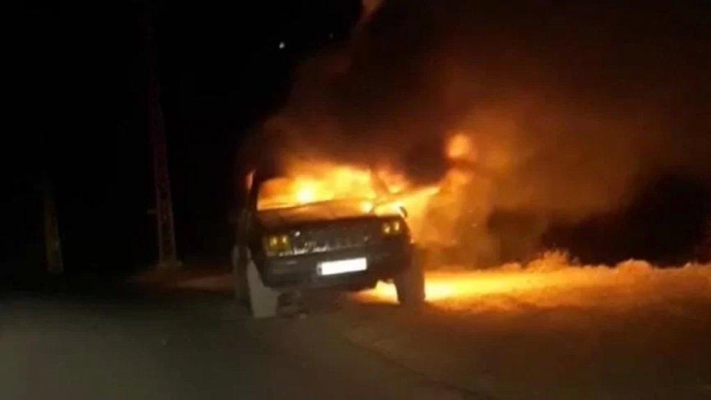 إحراق سيارة رباعية الدفع في بلدة إيزال لمتّهم بقتل الشاب علاء رضوان طعنًا بعد خلاف على أفضلية تعبئة البنزين