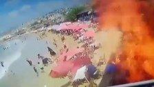 فيديو متداول للحظة انفجار قارورة غاز باستراحة على شاطئ الغازية الشعبي