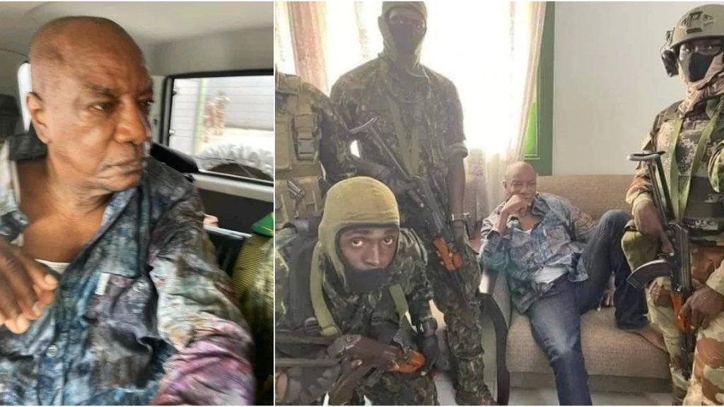 """بالفيديو والصور/ انقلاب عسكري في غينيا و""""القبض"""" على الرئيس وتعطيل الدستور وحل مؤسسات الدولة"""