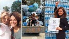 """بعدما حطمت 3 أرقام قياسية ضمن غينيس.. اللبنانية كارولين الشبطيني تسخّر فنّها دعمًا للأطفال مكافحي السرطان: """"البلاستيك مقابل أدويتهم"""""""