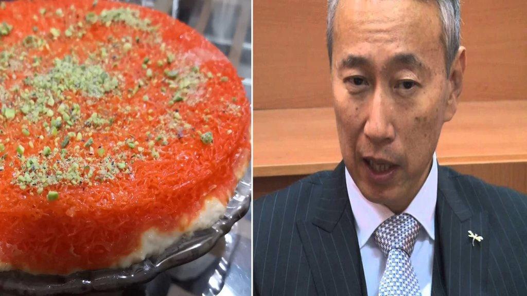"""السفير الياباني """"يمتدح"""" الكنافة: من أخطر أنواع الحلويات في العالم!"""