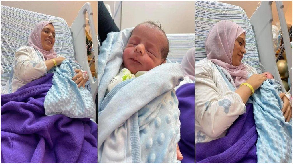 """بالصور/ أنهار الديك ومولودها """"علاء"""".. وُلد في أحضان الحرية"""