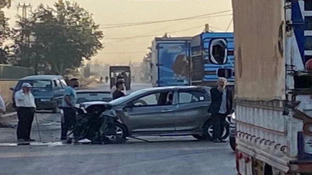بالصور/ سقوط تسعة جرحى جراء حادث سير مروع صباحاُ على طريق عام الفاعور