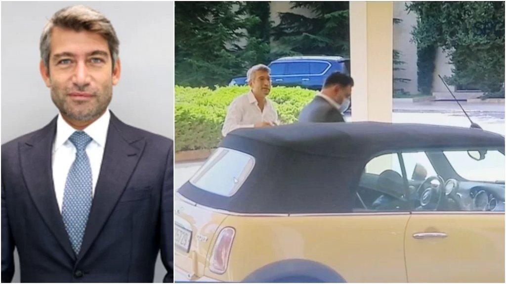 """بالفيديو/ وزير الطاقة الجديد وصل إلى قصر بعبدا بـ """"ميني كوبر"""" و""""بلا ربطة عنق"""""""