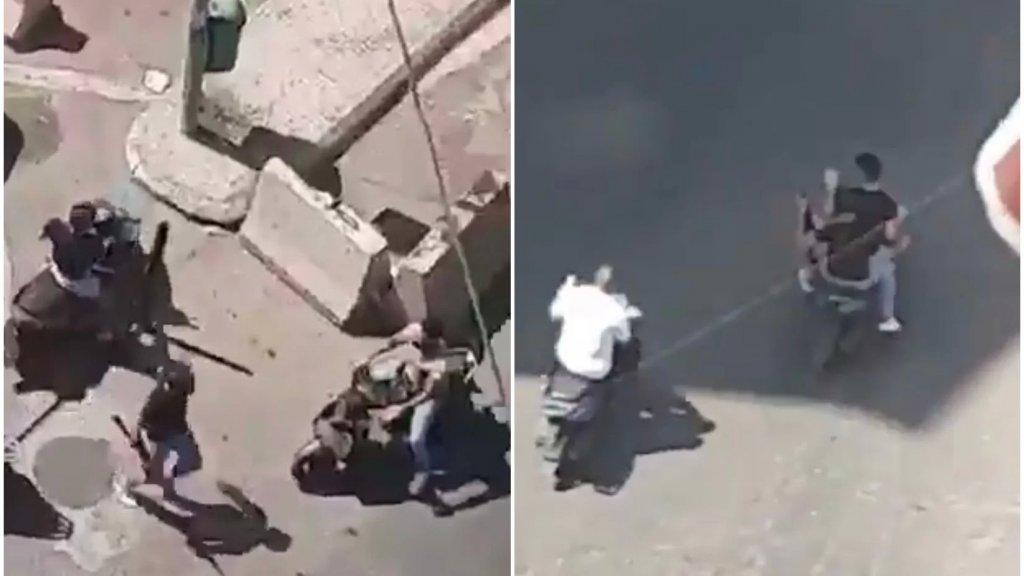 """فيديو متداول يظهر عدداً من المسلحين يحملون أسلحة رشاشة ويفرّون بعد تنفيذ جريمتهم في حي آل المقداد- بئر العبد.. وبحسب المعلومات فإنّ الخلفية """"ثأر قديم"""""""